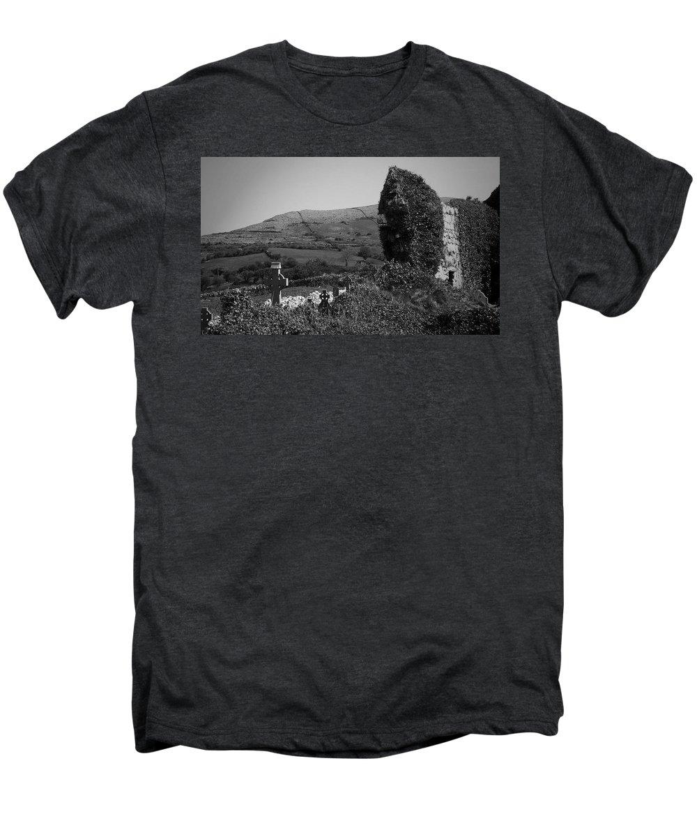 Irish Men's Premium T-Shirt featuring the photograph Ruins In The Burren County Clare Ireland by Teresa Mucha