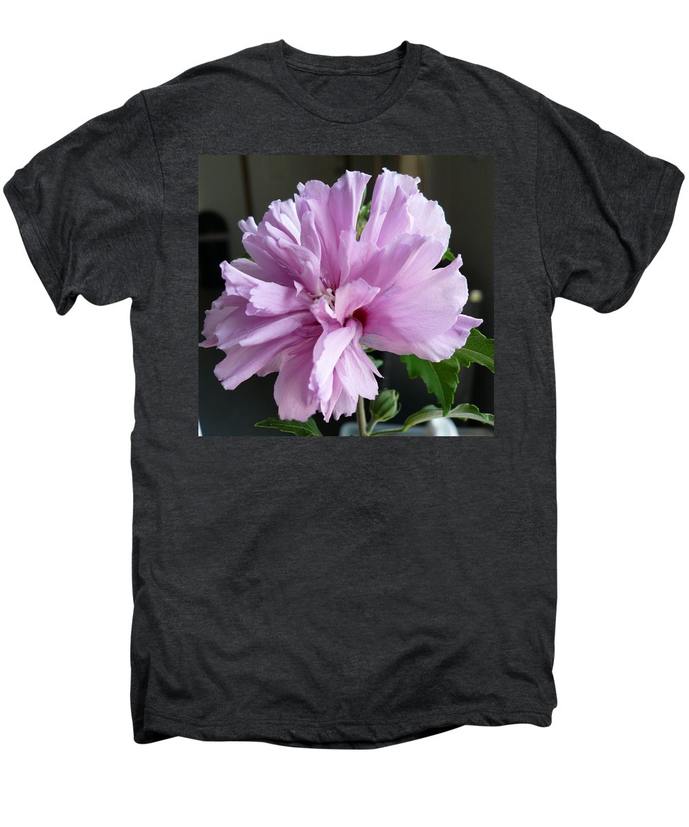 Phoyography.hibiscus Flower Floral Bloom Bush Pink Men's Premium T-Shirt featuring the photograph So Pink by Karin Dawn Kelshall- Best