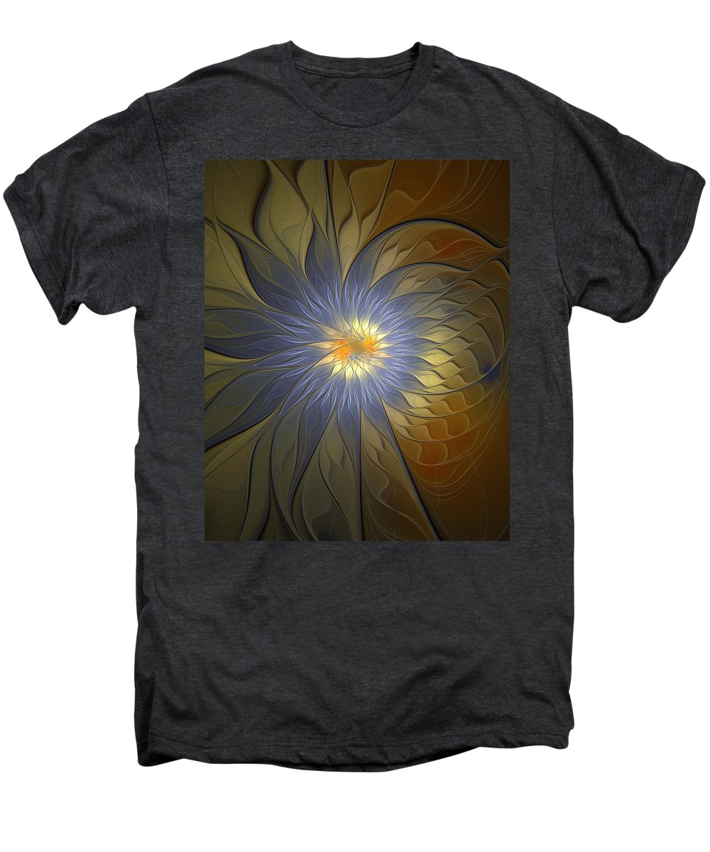 Digital Art Men's Premium T-Shirt featuring the digital art Something Blue by Amanda Moore