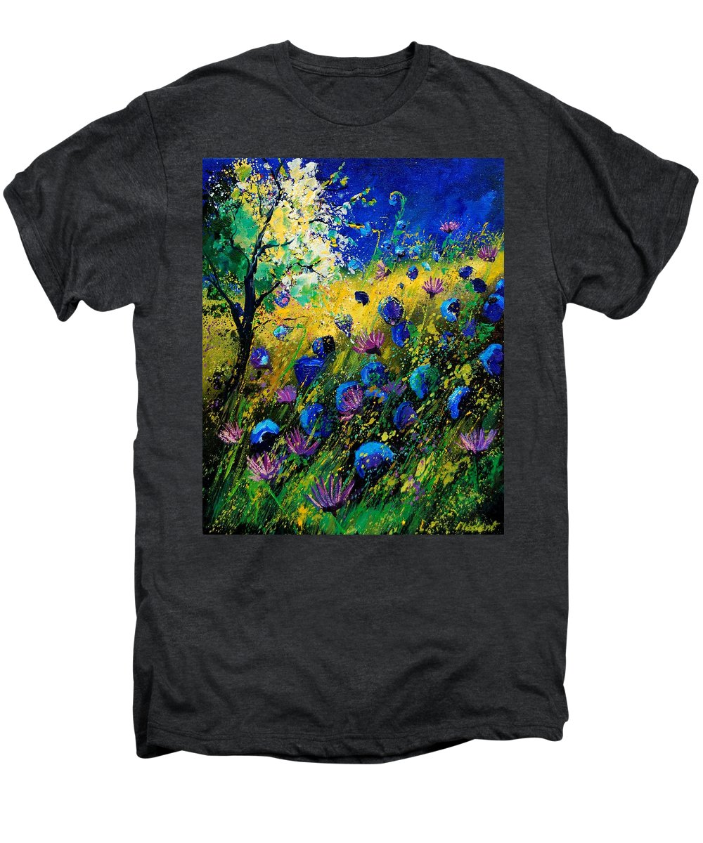 Poppies Men's Premium T-Shirt featuring the painting Summer 450208 by Pol Ledent