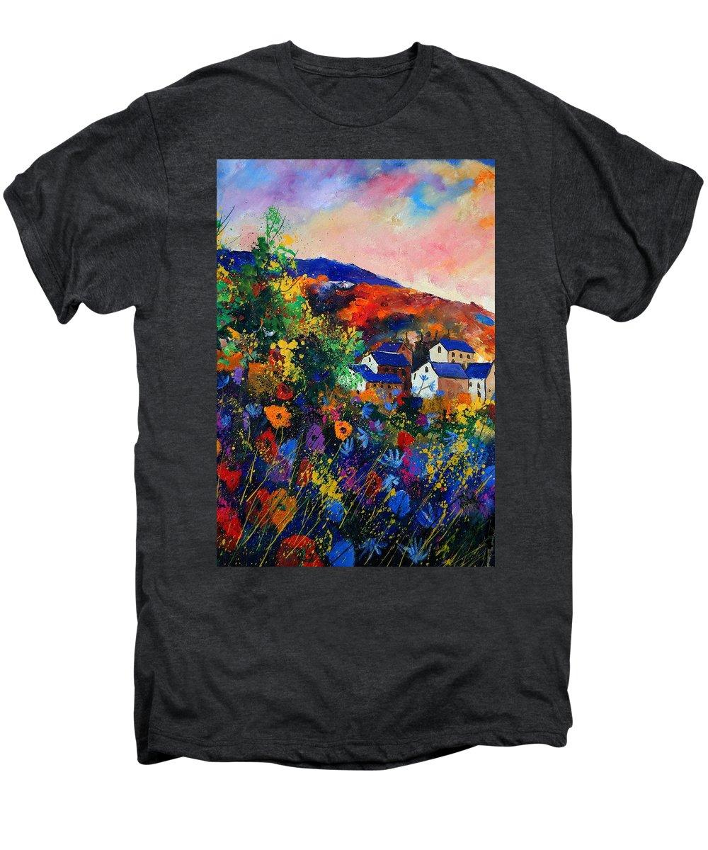 Landscape Men's Premium T-Shirt featuring the painting Summer by Pol Ledent