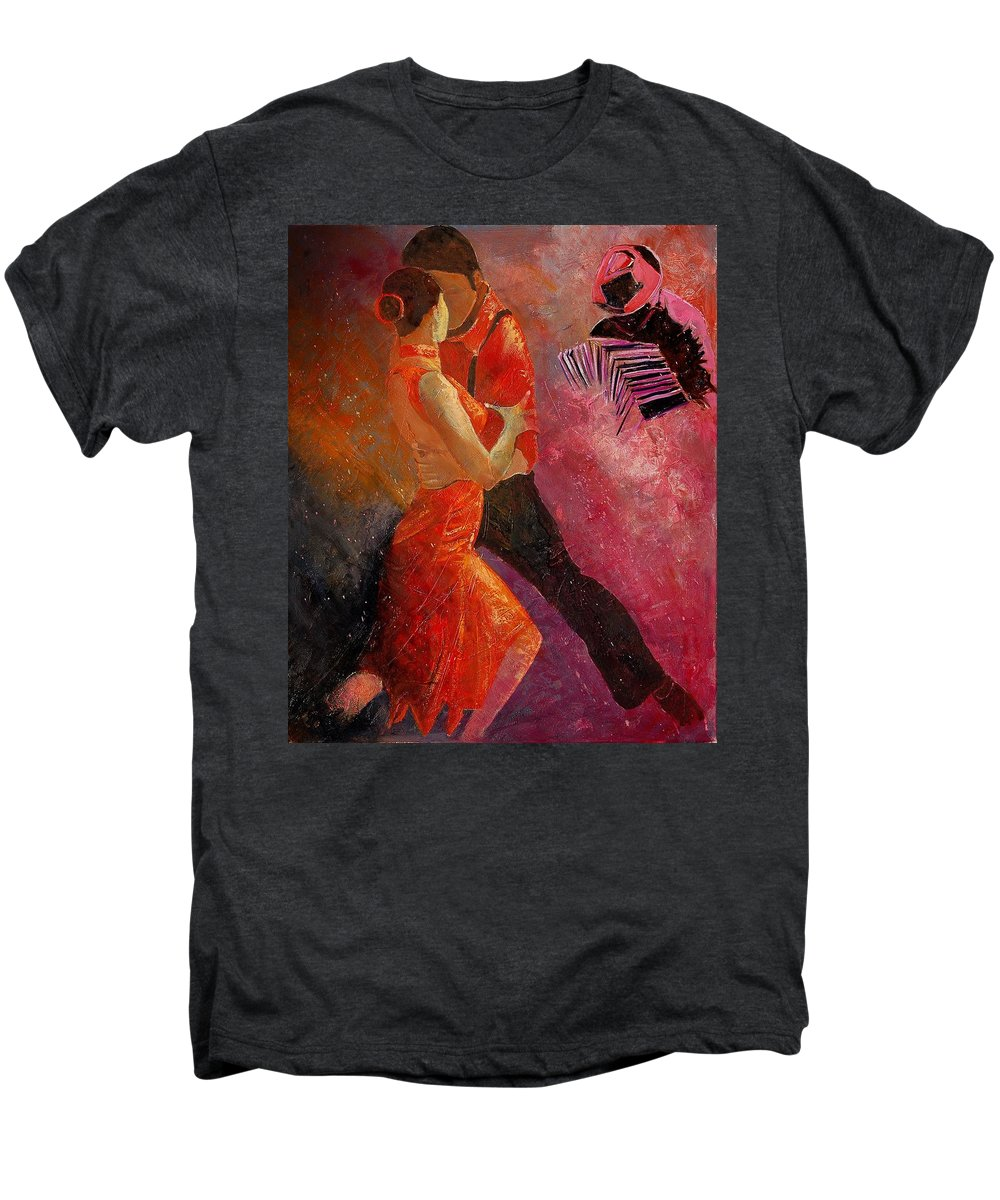 Tango Men's Premium T-Shirt featuring the painting Tango by Pol Ledent