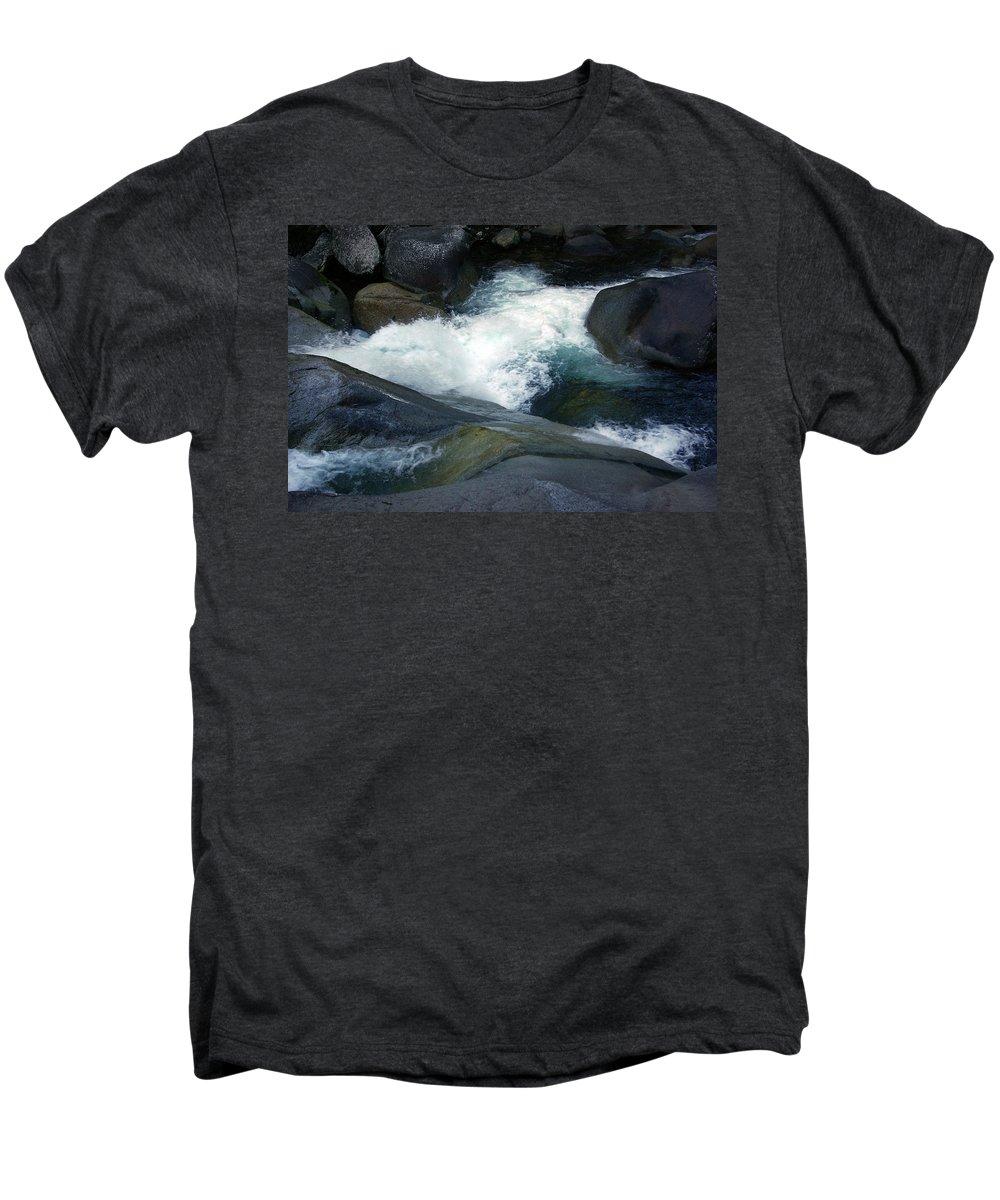 Fineart Men's Premium T-Shirt featuring the photograph Tropical Flowing Waters Josephine Falls by Kerryn Madsen- Pietsch
