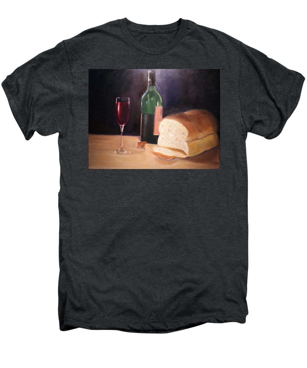 Wine Men's Premium T-Shirt featuring the painting Untitled by Toni Berry