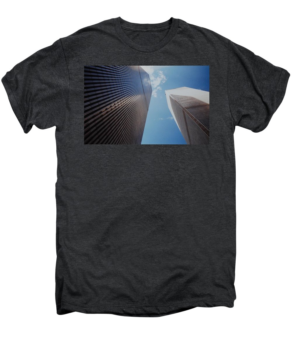 Wtc Men's Premium T-Shirt featuring the photograph W T C 1 And 2 by Rob Hans