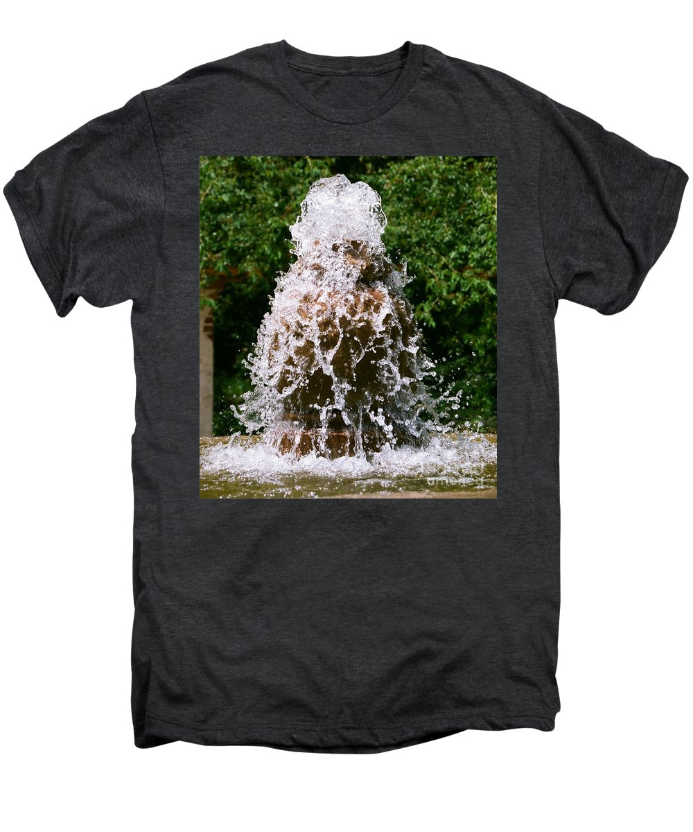 Water Men's Premium T-Shirt featuring the photograph Water Fountain by Dean Triolo