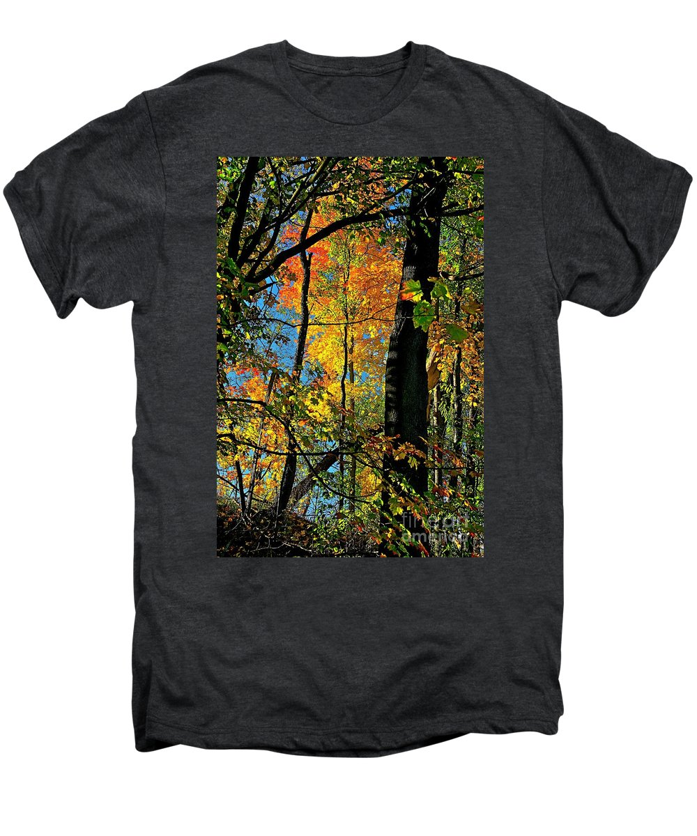 Fall Men's Premium T-Shirt featuring the photograph Fall Fire Works by Robert Pearson