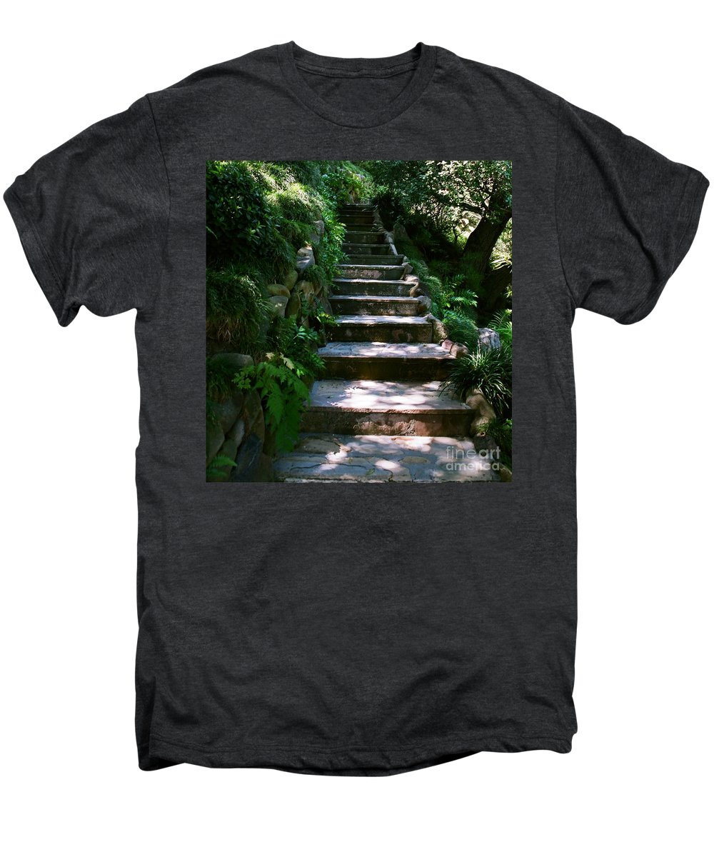 Nature Men's Premium T-Shirt featuring the photograph Stone Steps by Dean Triolo