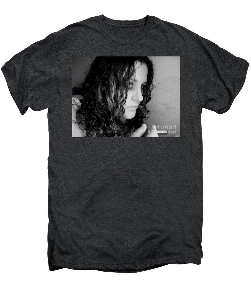 Ciggerette Men's Premium T-Shirt featuring the photograph Untitiled by Meghann Brunney