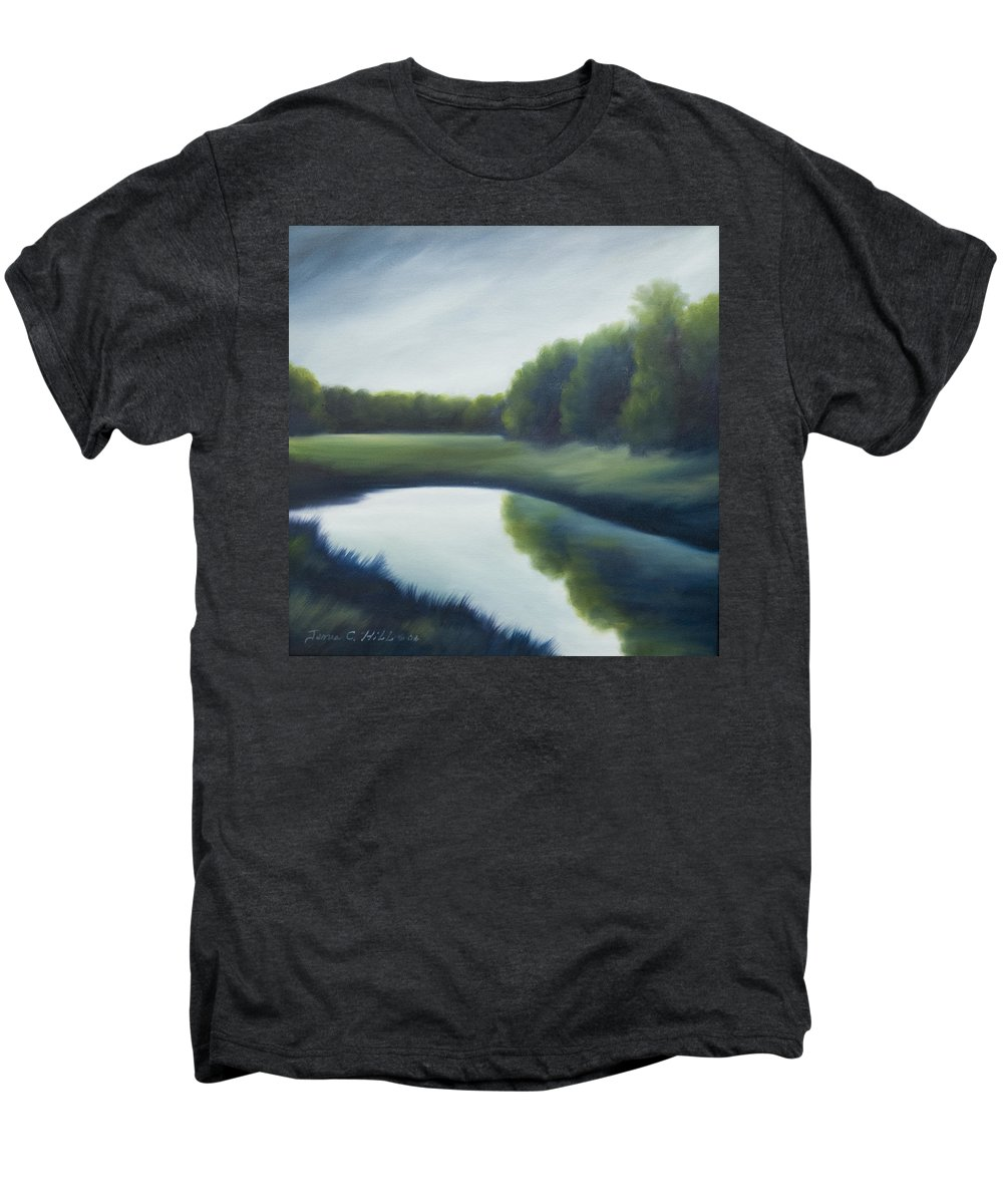 Clouds Men's Premium T-Shirt featuring the painting A Day In The Life 2 by James Christopher Hill