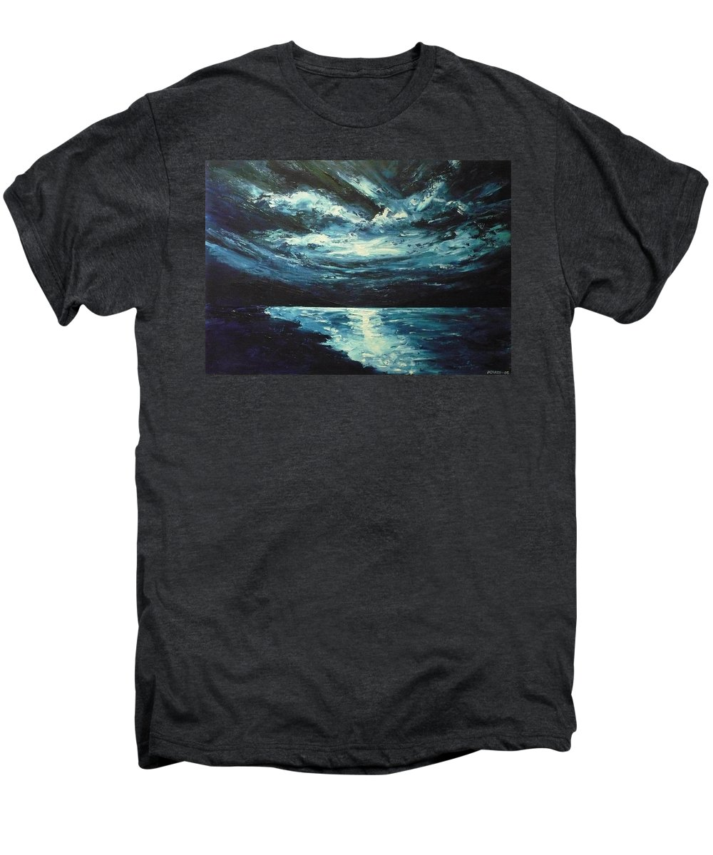 Landscape Men's Premium T-Shirt featuring the painting A Milky Way by Ericka Herazo
