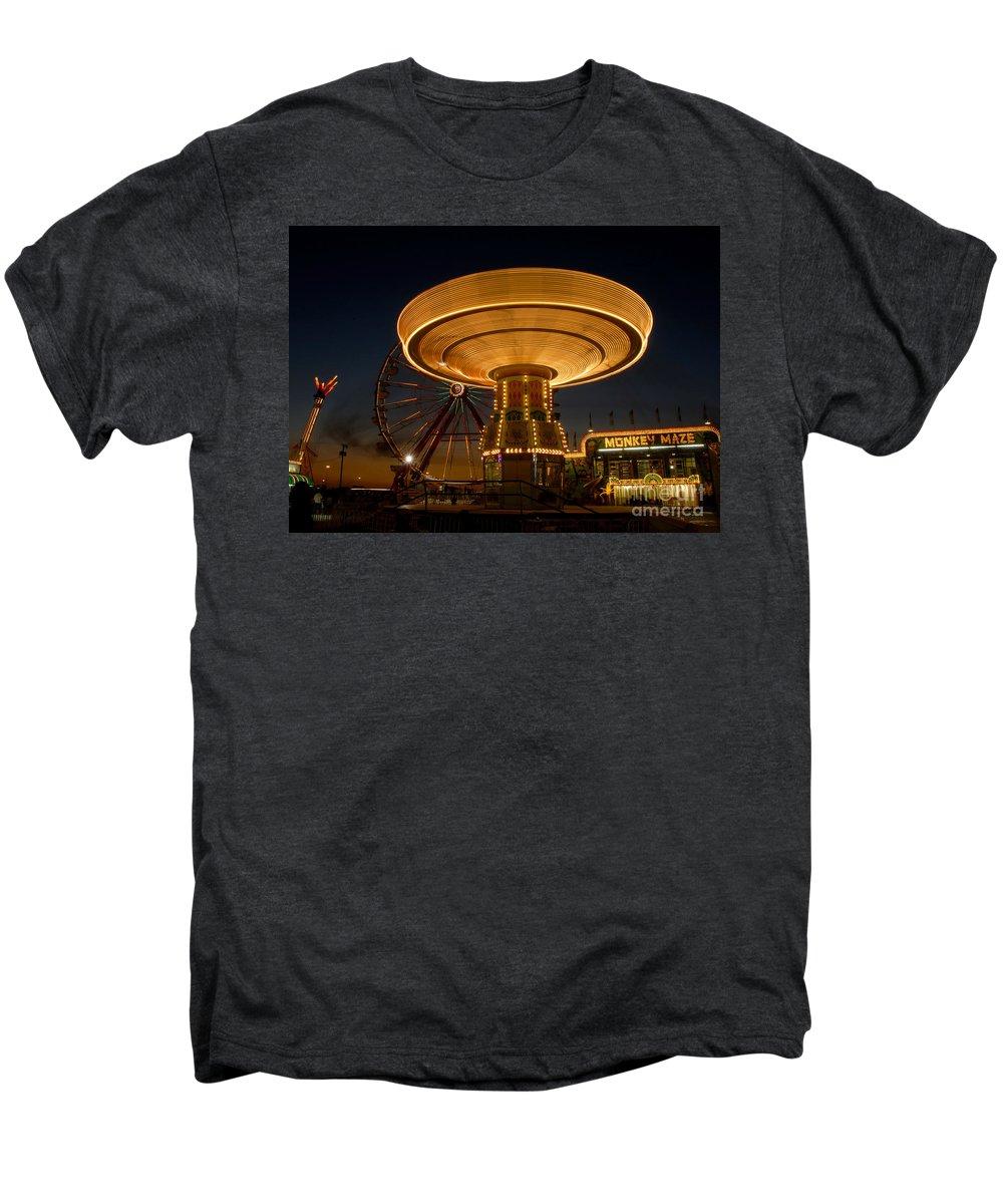 Fair Men's Premium T-Shirt featuring the photograph A Night At The Fair by David Lee Thompson
