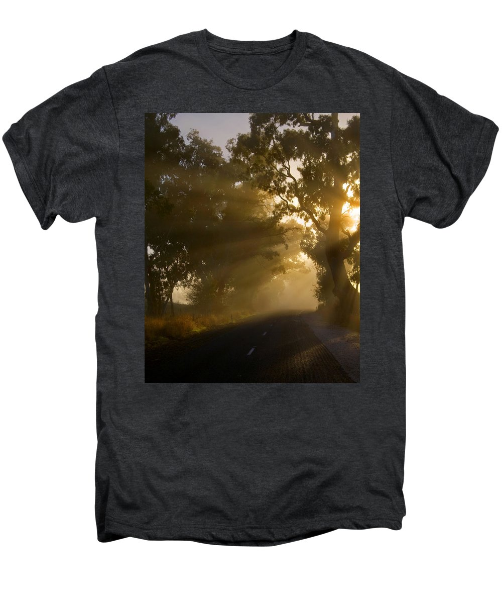 Highway Men's Premium T-Shirt featuring the photograph A Road Less Traveled by Mike Dawson