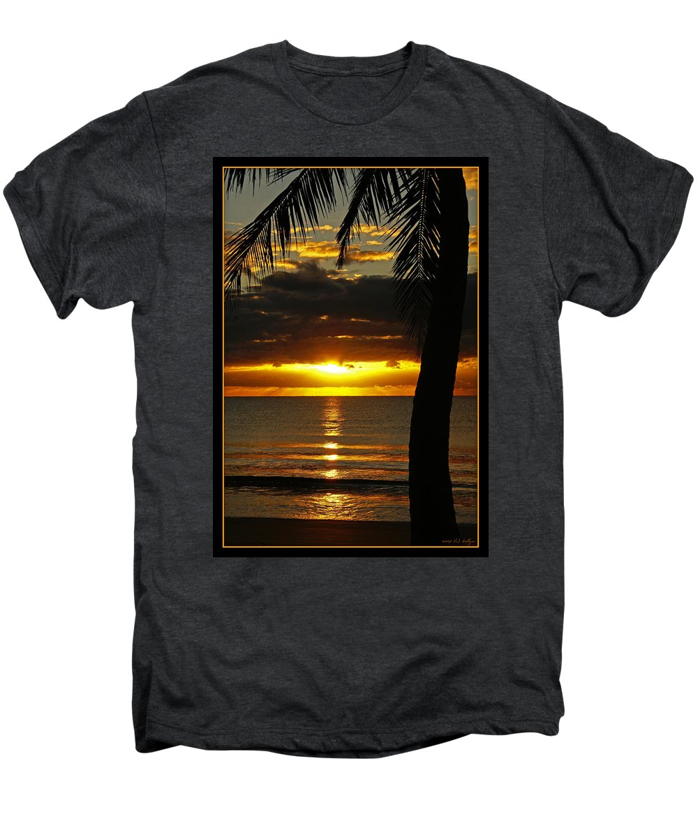 Landscape Men's Premium T-Shirt featuring the photograph A Touch Of Paradise by Holly Kempe