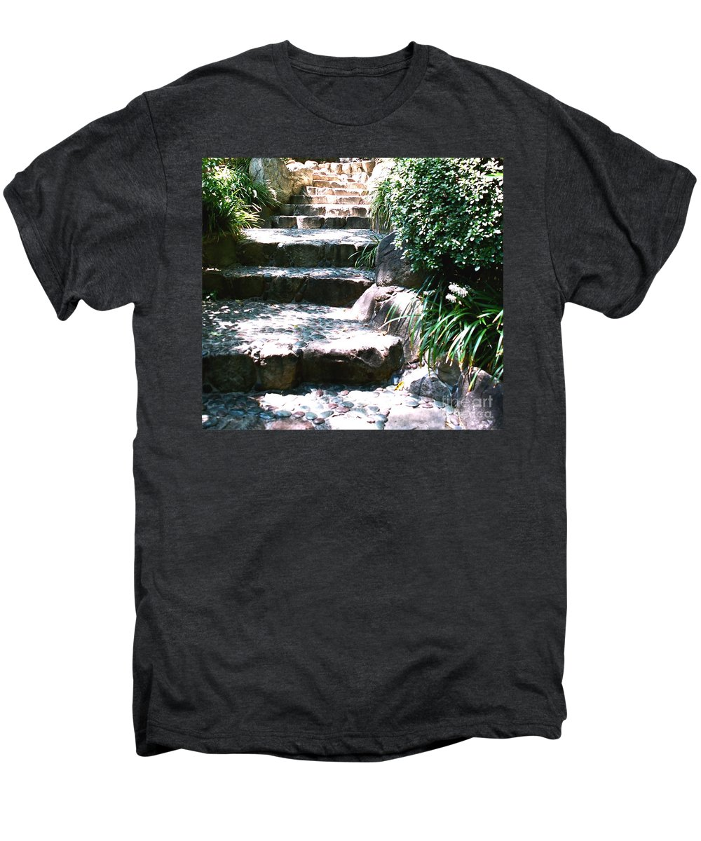 Stairs Men's Premium T-Shirt featuring the photograph A Way Out by Dean Triolo