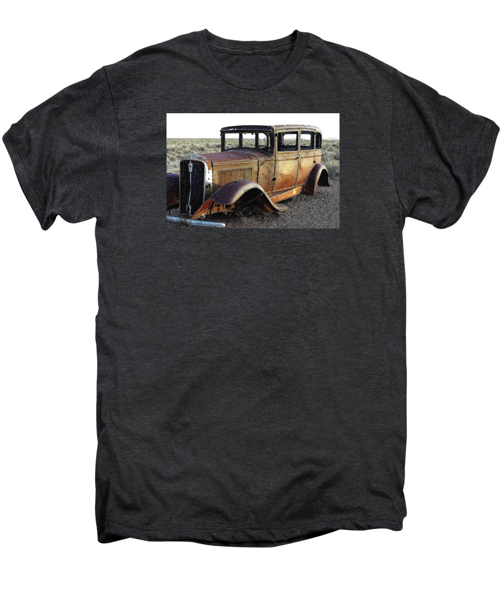 Arizona Men's Premium T-Shirt featuring the photograph Abandonded Along Rt 66 by Nelson Strong