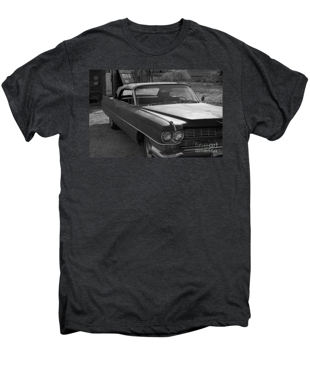 Cadillac Men's Premium T-Shirt featuring the photograph Abandoned Classic by Richard Rizzo
