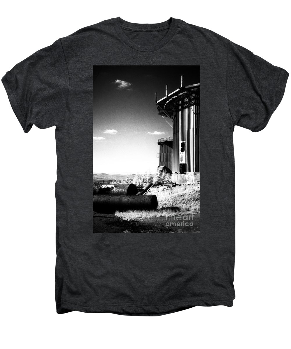 Abandoned Men's Premium T-Shirt featuring the photograph Abandoned Radar by Richard Rizzo
