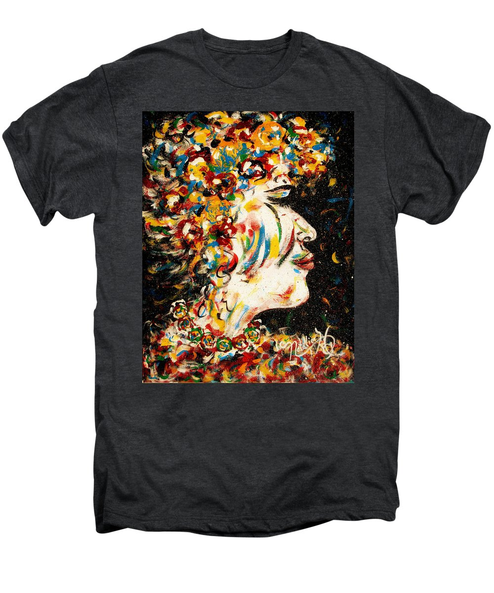 Woman Men's Premium T-Shirt featuring the painting Absolutely Not by Natalie Holland