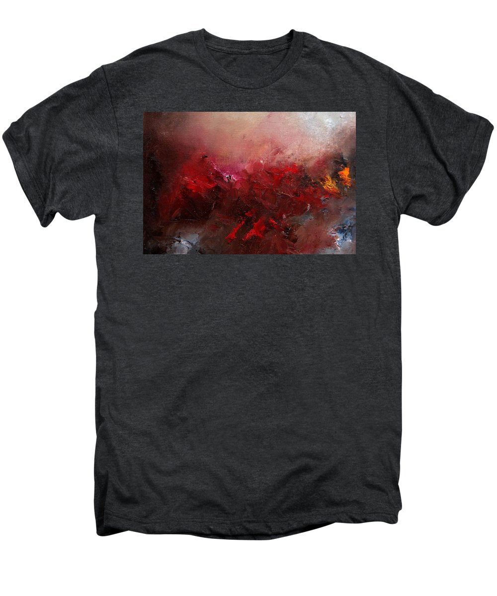 Abstract Men's Premium T-Shirt featuring the painting Abstract 056 by Pol Ledent