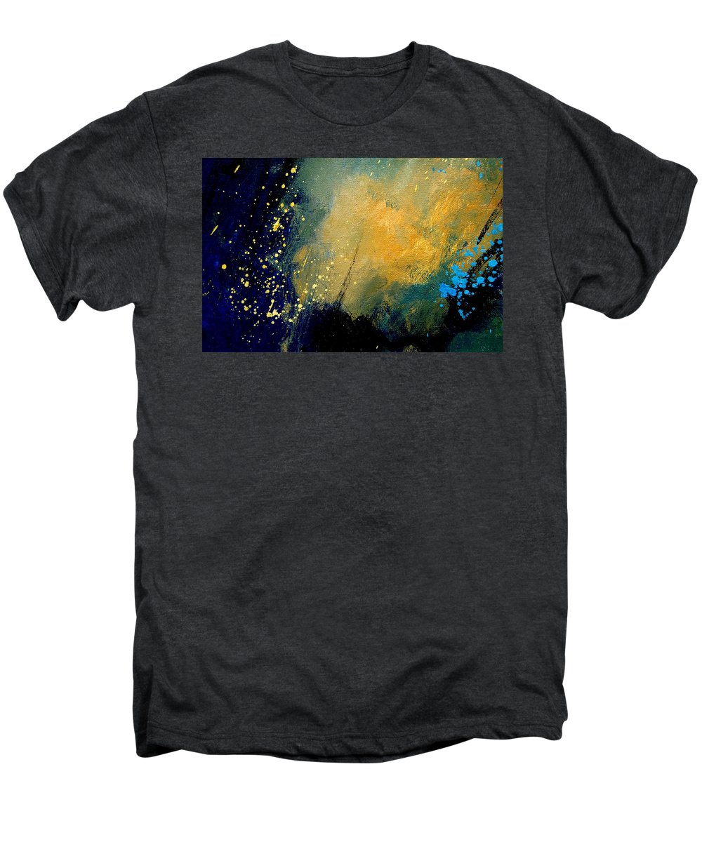 Abstract Men's Premium T-Shirt featuring the painting Abstract 061 by Pol Ledent