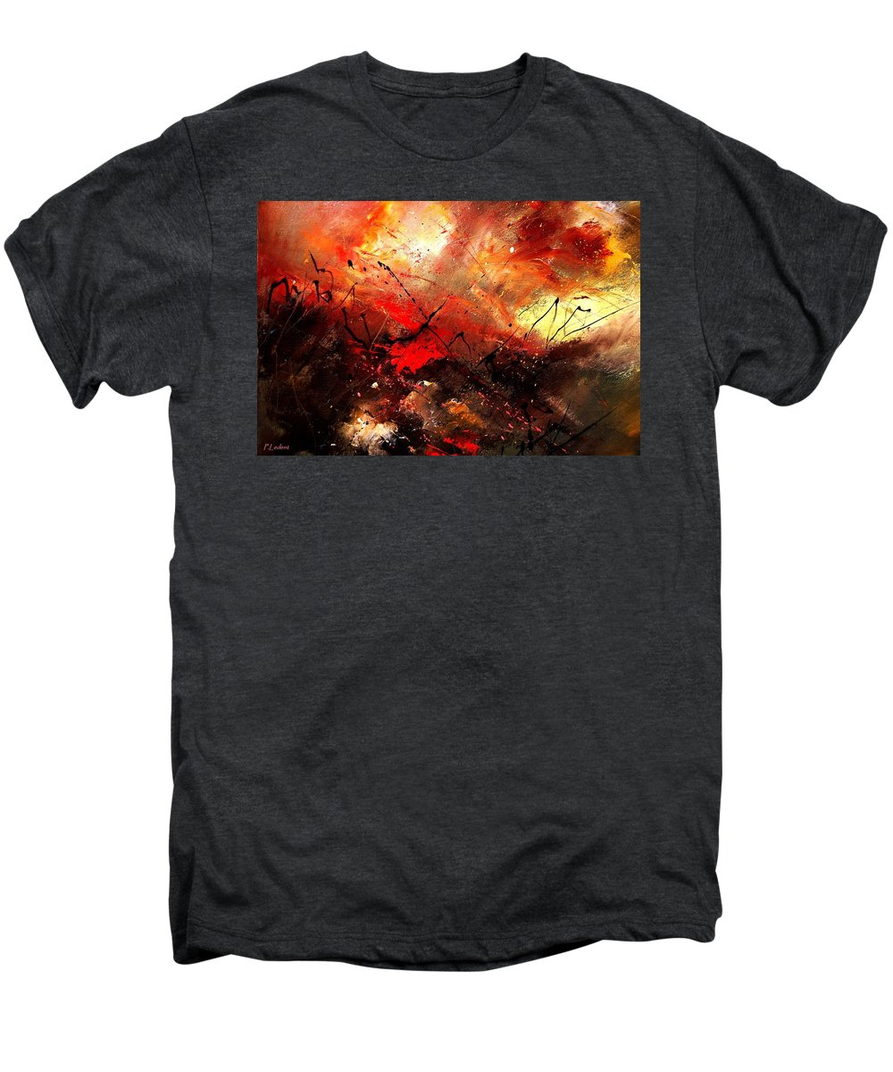 Abstract Men's Premium T-Shirt featuring the painting Abstract 100202 by Pol Ledent