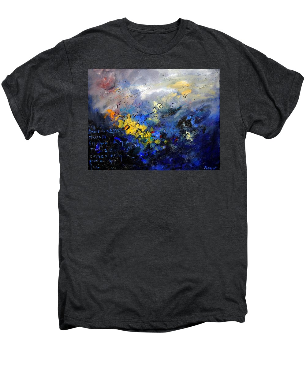 Abstract Men's Premium T-Shirt featuring the painting Abstract 970208 by Pol Ledent