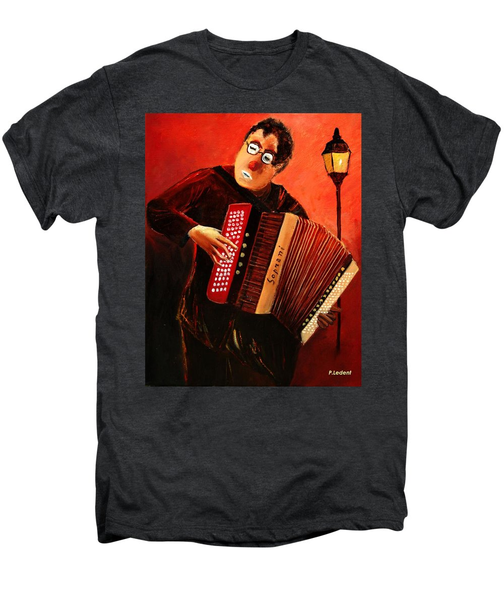 Music Men's Premium T-Shirt featuring the print Accordeon by Pol Ledent