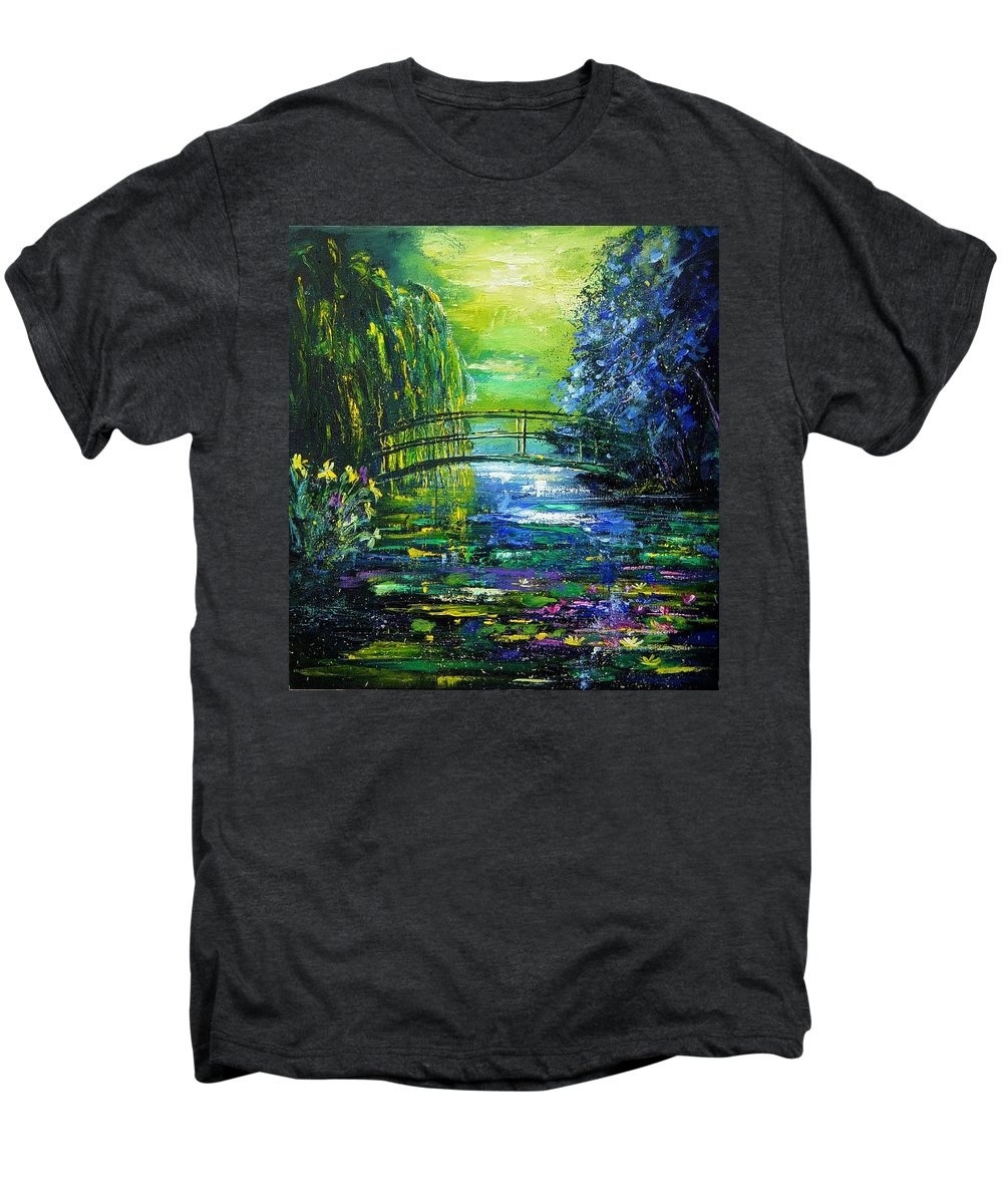Pond Men's Premium T-Shirt featuring the painting After Monet by Pol Ledent