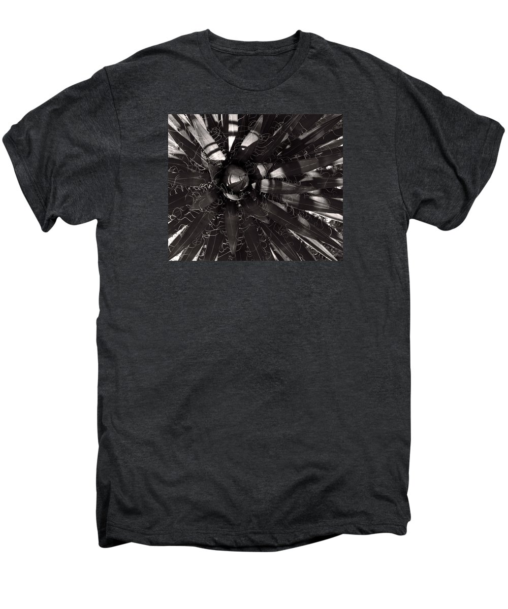 Agave Men's Premium T-Shirt featuring the photograph Agave by Steve Bisgrove