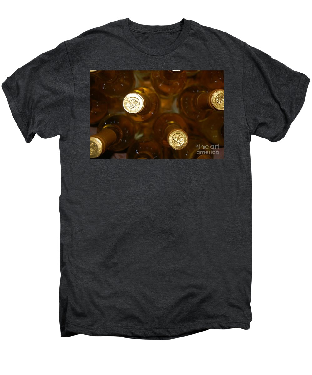 Wine Men's Premium T-Shirt featuring the photograph Aged Well by Debbi Granruth