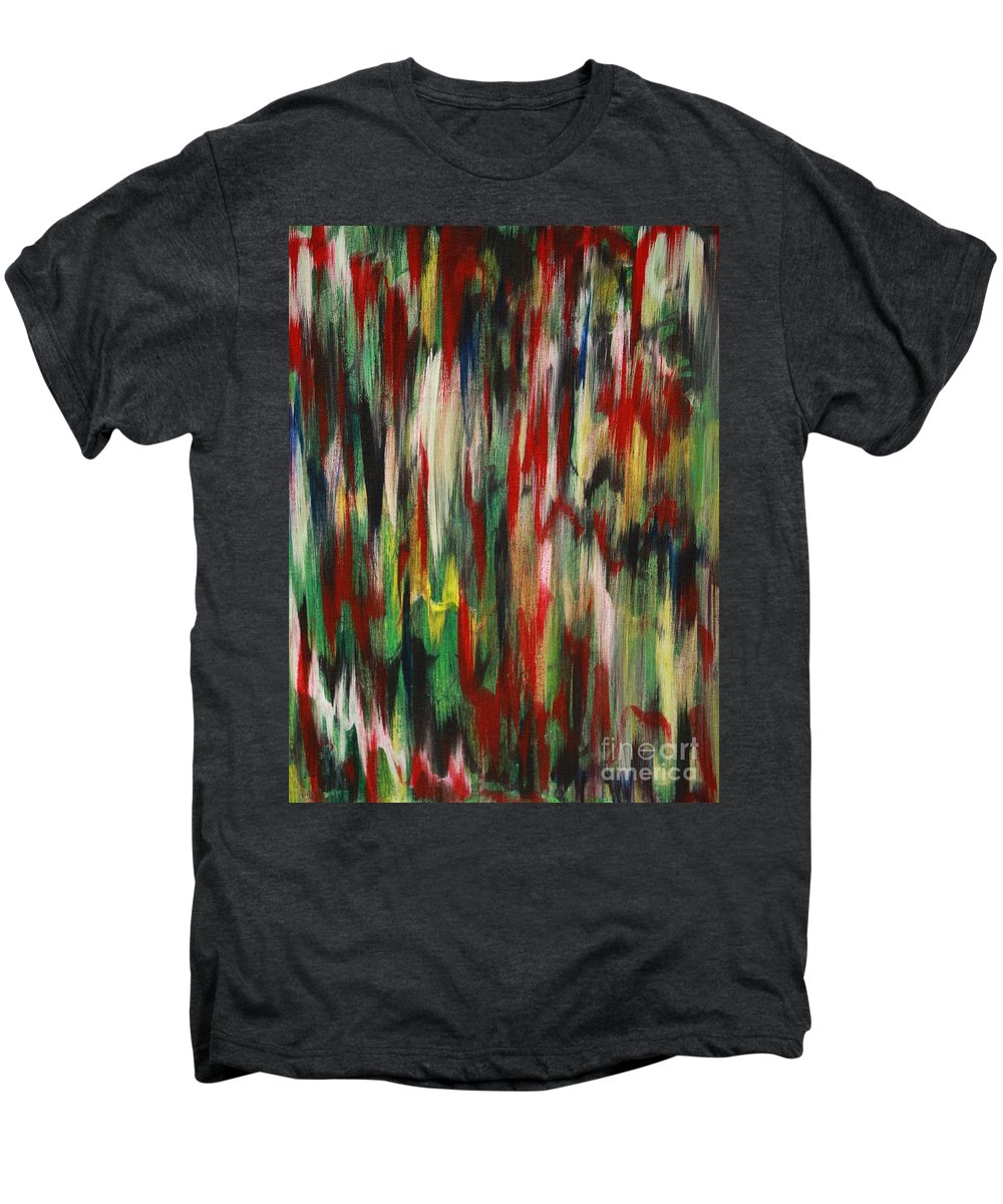 Abstract Men's Premium T-Shirt featuring the painting Agony by Jacqueline Athmann