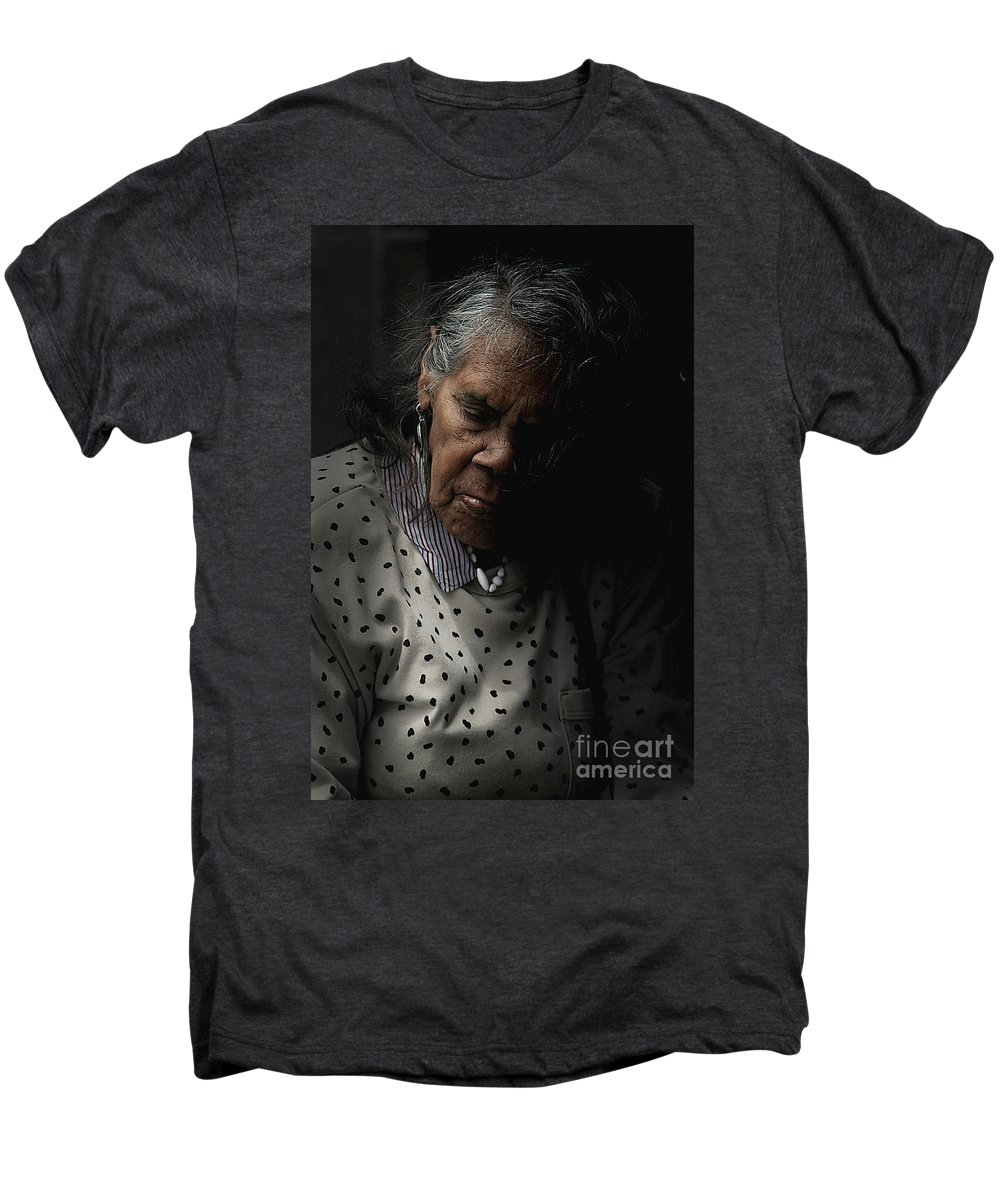 Portrait Men's Premium T-Shirt featuring the photograph Alice by Sheila Smart Fine Art Photography