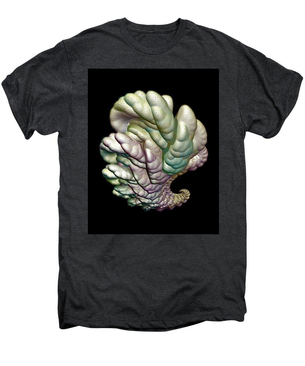 Fractal Men's Premium T-Shirt featuring the digital art Alien Brain by Frederic Durville