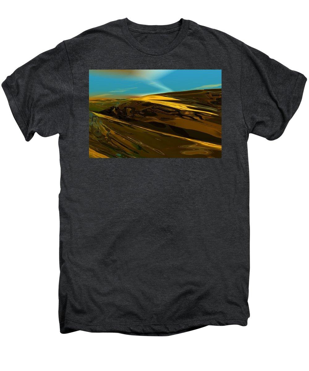 Landscape Men's Premium T-Shirt featuring the digital art Alien Landscape 2-28-09 by David Lane