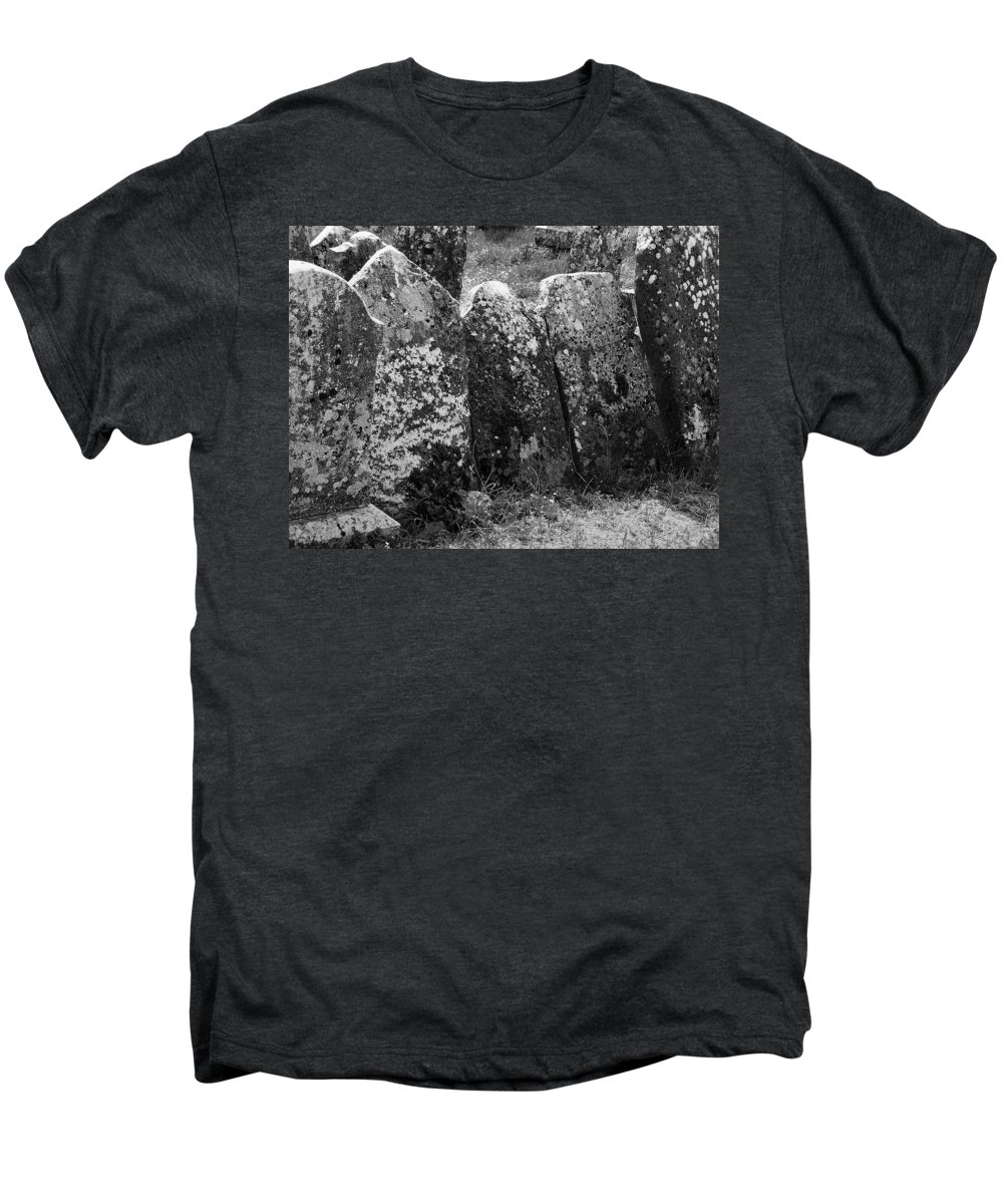 Ireland Men's Premium T-Shirt featuring the photograph All In A Row At Fuerty Cemetery Roscommon Ireland by Teresa Mucha
