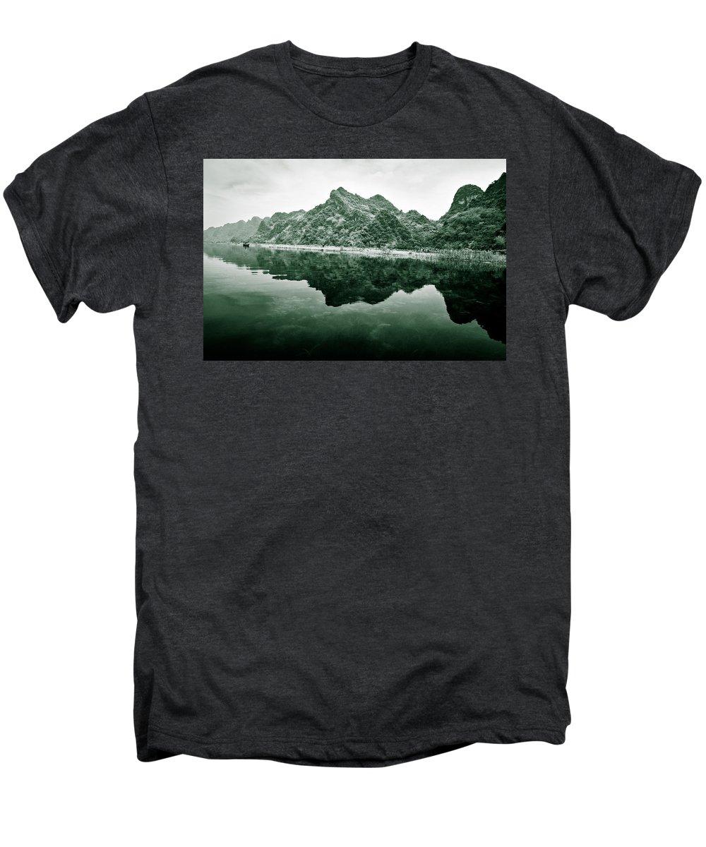 Yen Men's Premium T-Shirt featuring the photograph Along The Yen River by Dave Bowman
