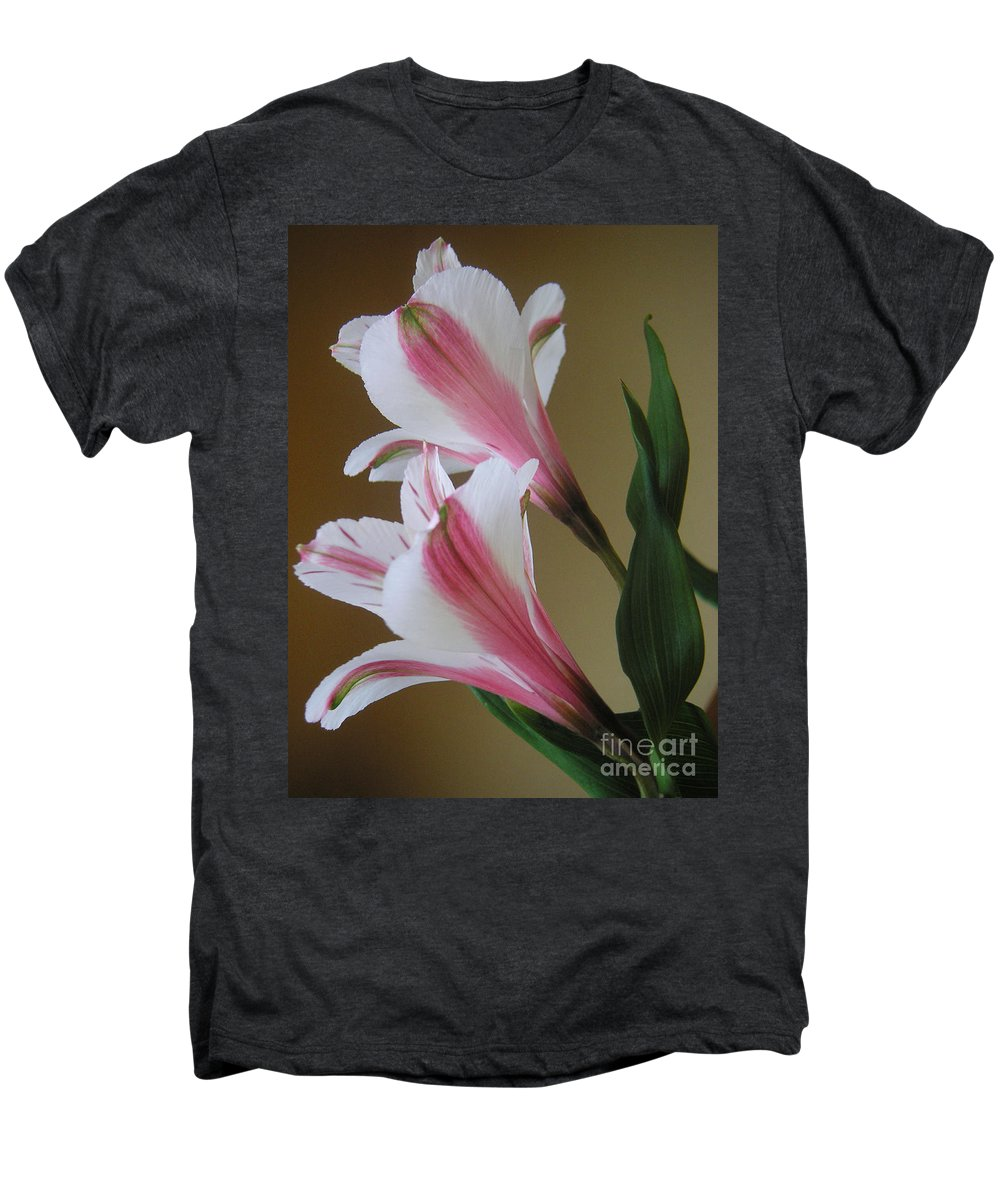 Nature Men's Premium T-Shirt featuring the photograph Alstroemerias - Doubled by Lucyna A M Green