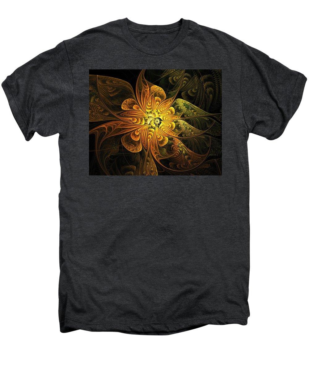 Digital Art Men's Premium T-Shirt featuring the digital art Amber Light by Amanda Moore