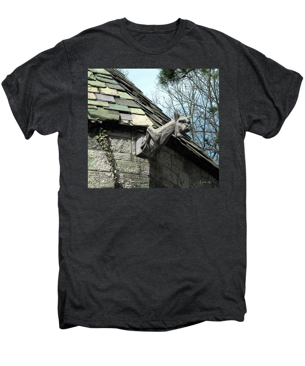 Architecture Men's Premium T-Shirt featuring the photograph American Gargoyle by RC DeWinter
