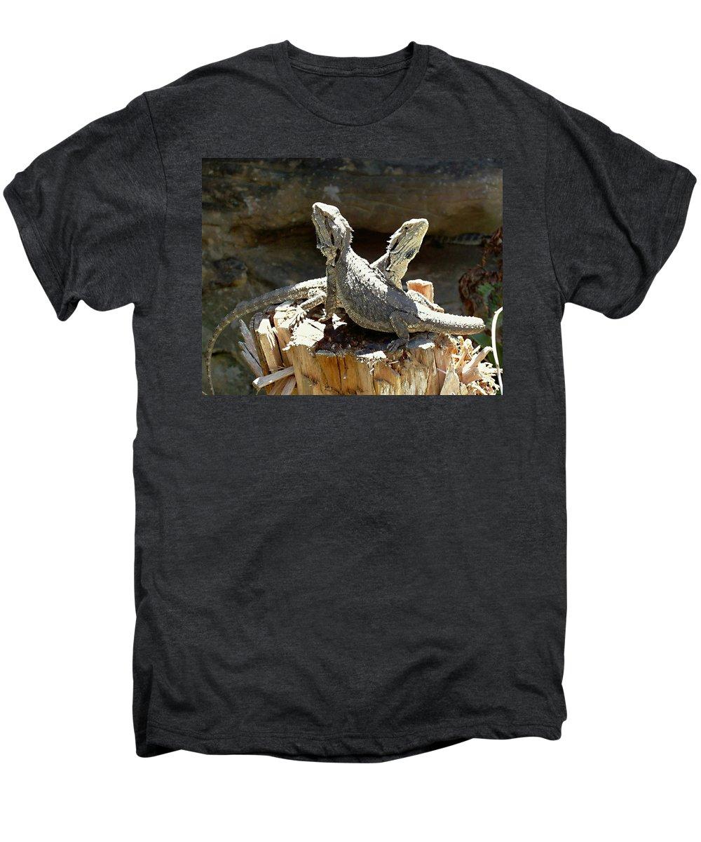 Amphion And Zethus Men's Premium T-Shirt featuring the photograph Amphion And Zethus by Ellen Henneke