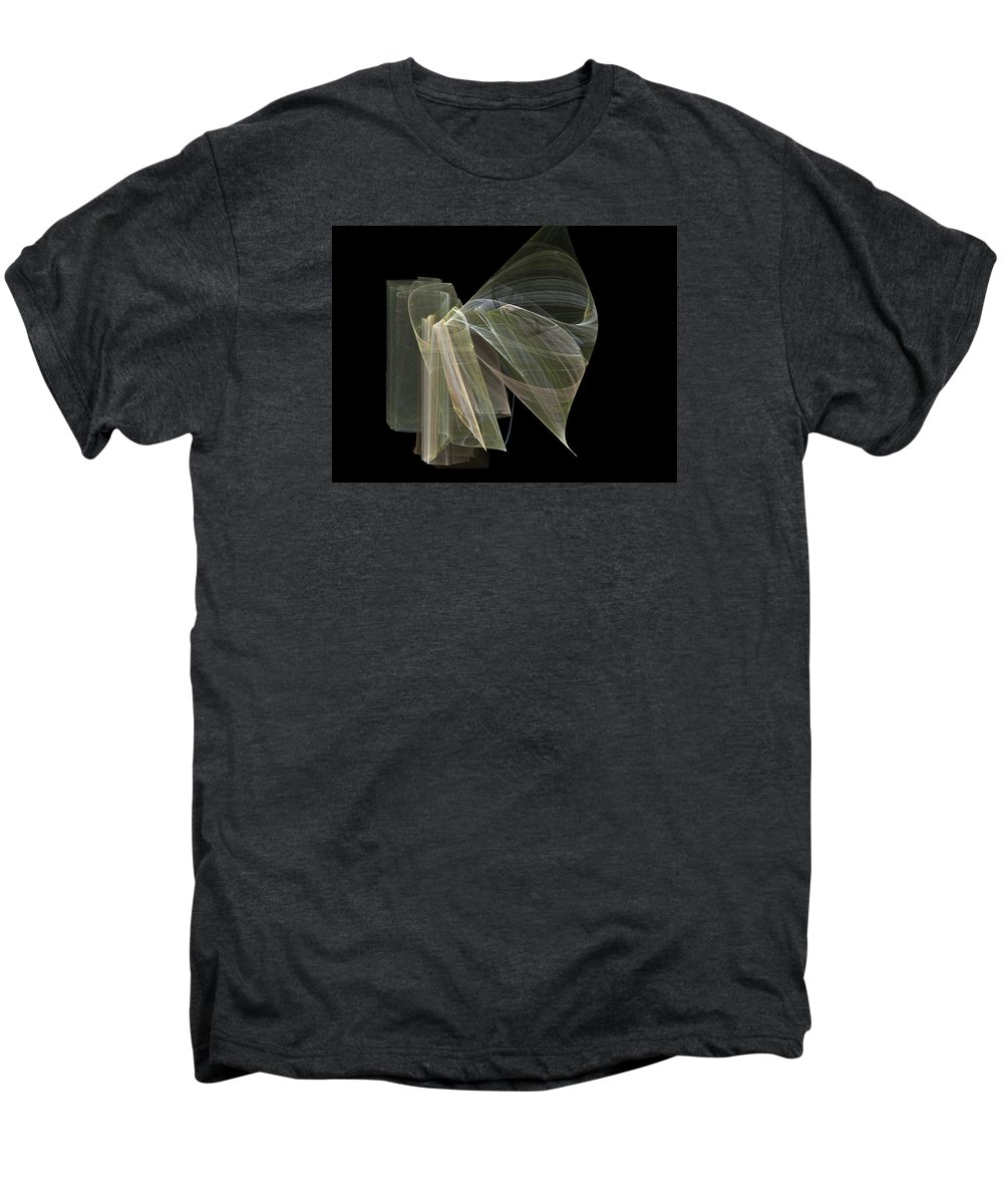 Experimental Men's Premium T-Shirt featuring the digital art And The Angel Spoke..... by Jackie Mueller-Jones