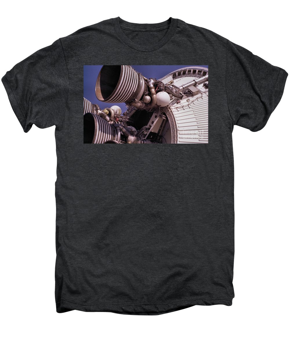 Technology Men's Premium T-Shirt featuring the photograph Apollo Rocket Engine by Richard Rizzo
