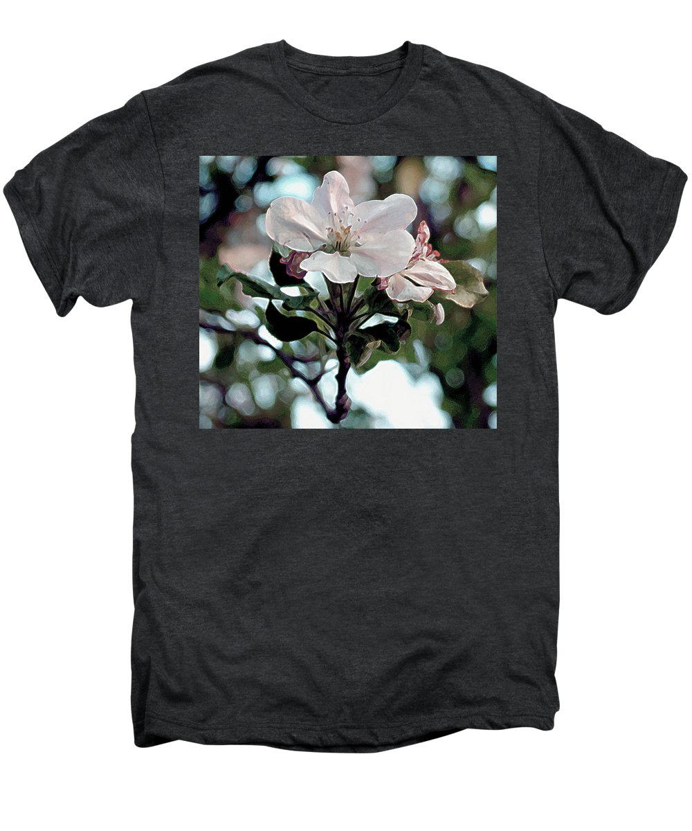 Blossom Men's Premium T-Shirt featuring the painting Apple Blossom Time by RC deWinter