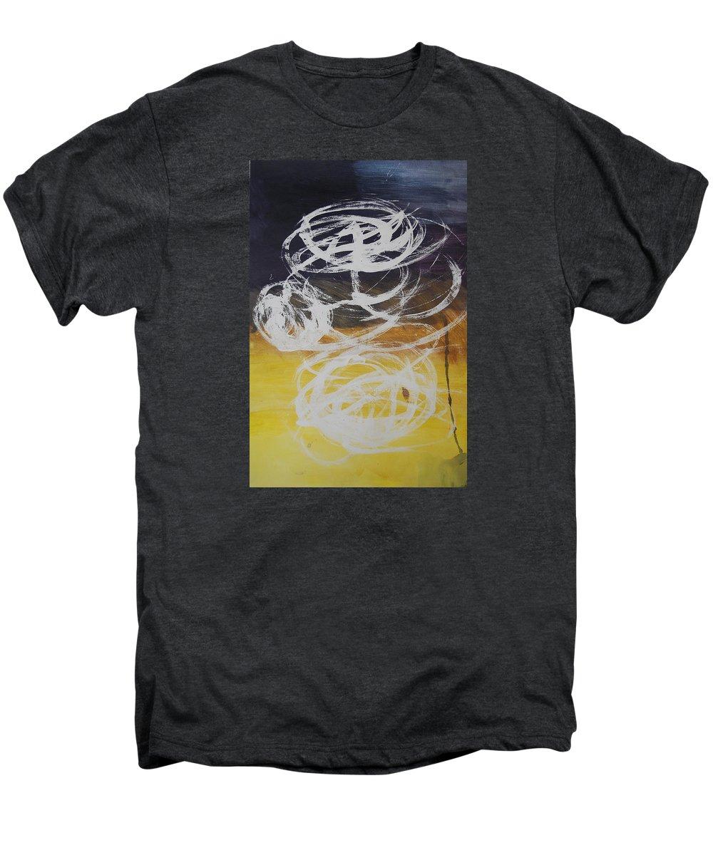 Learning Men's Premium T-Shirt featuring the painting Aprendiendo by Lauren Luna