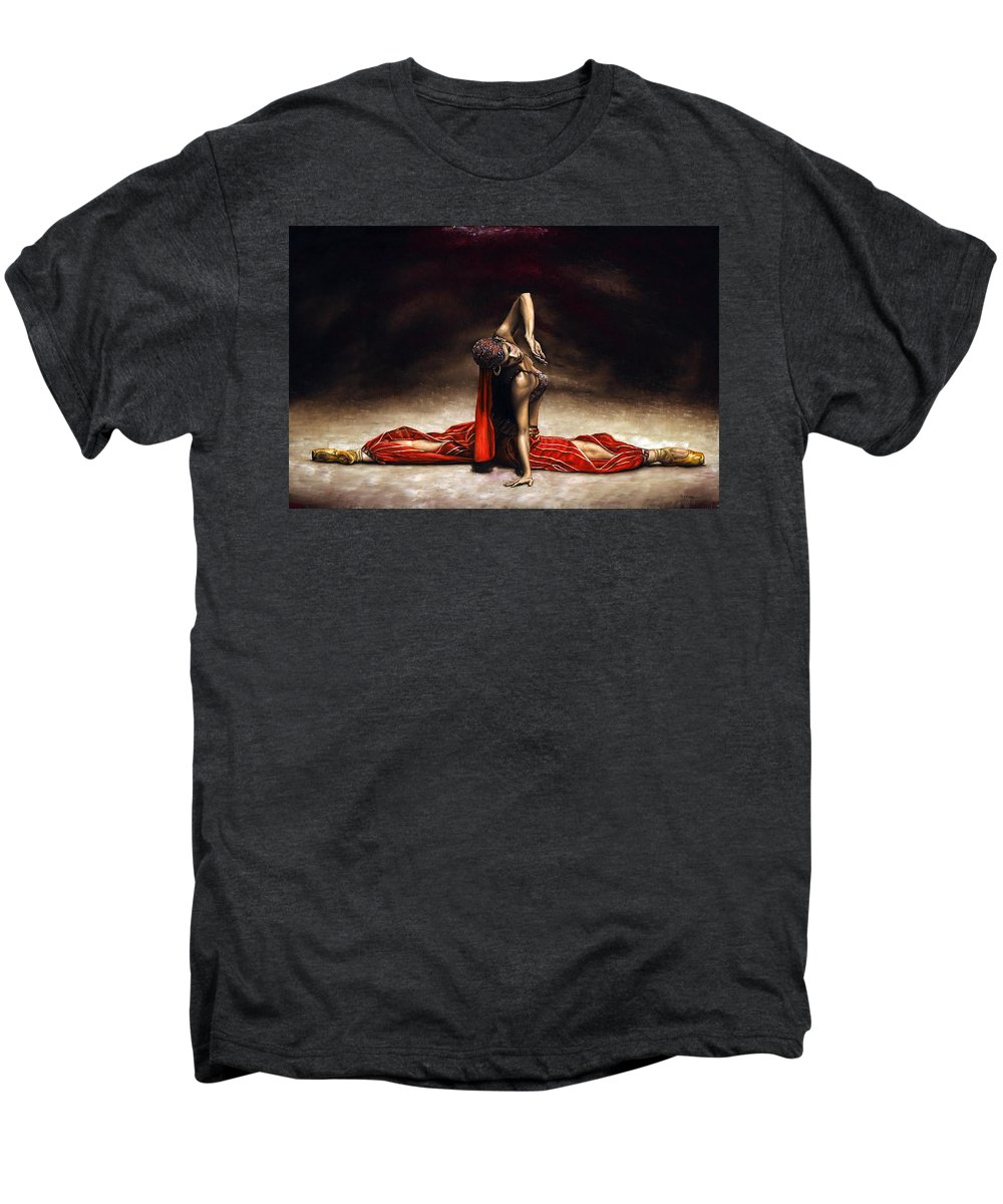 Ballerina Men's Premium T-Shirt featuring the painting Arabian Coffee by Richard Young