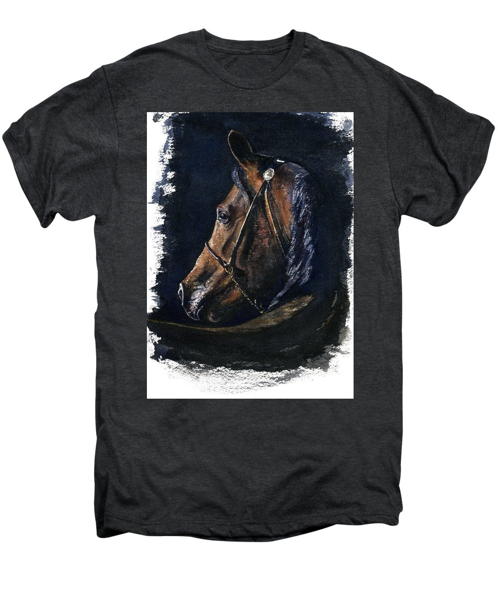 Horse Men's Premium T-Shirt featuring the painting Arabian by John D Benson
