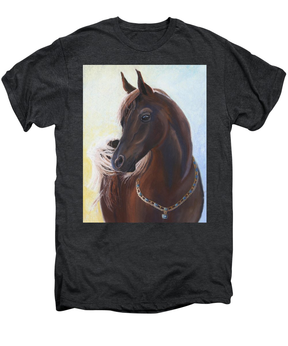 Horse Men's Premium T-Shirt featuring the painting Arabian Prince by Heather Coen