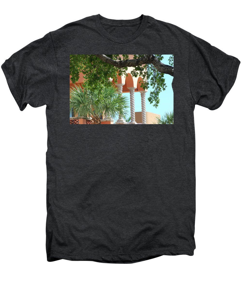 Architecture Men's Premium T-Shirt featuring the photograph Arches Thru The Trees by Rob Hans