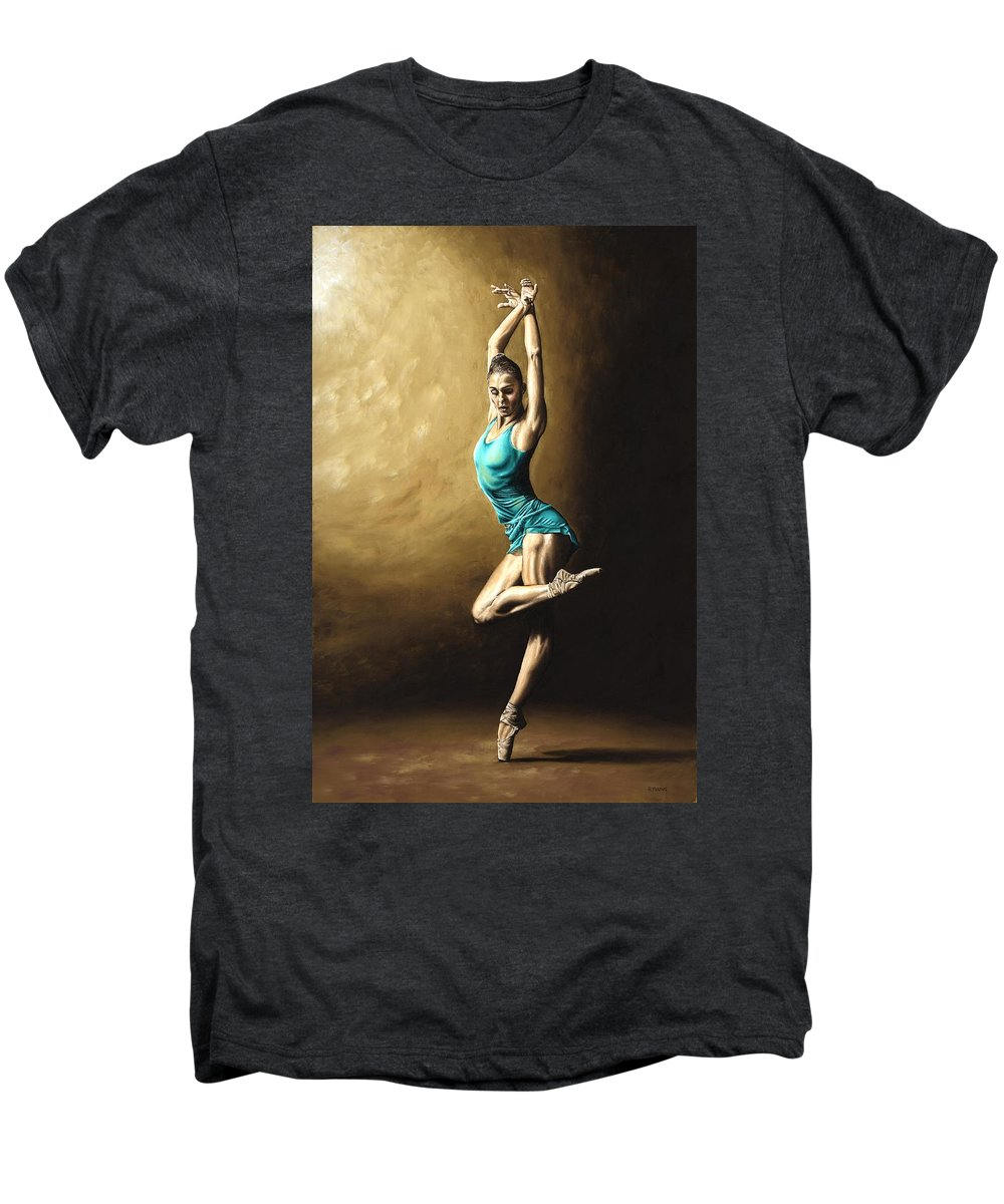 Dance Men's Premium T-Shirt featuring the painting Ardent Dancer by Richard Young
